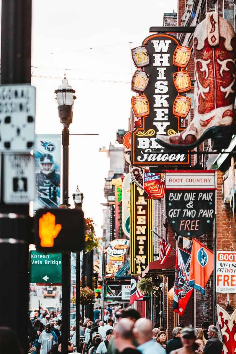 Downtown Nashville Tenessee