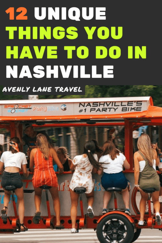 Unique things to do in Nashville Tennesse