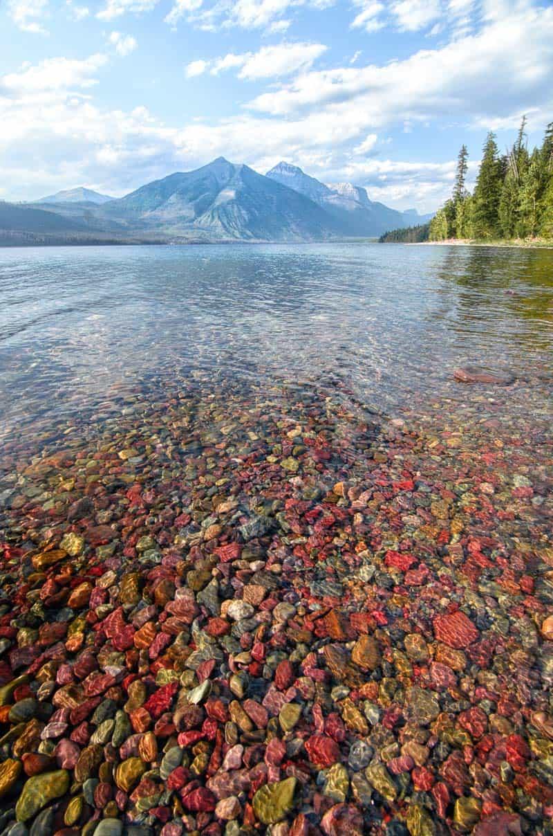 Lake McDonald colorful rocks